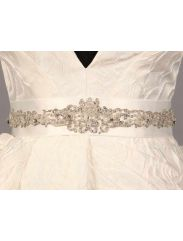 B564 Bridal White Discount Designer Wedding Dress Sash