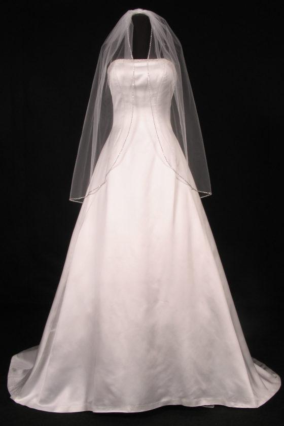 S3008VL Diamond White Bridal Veil