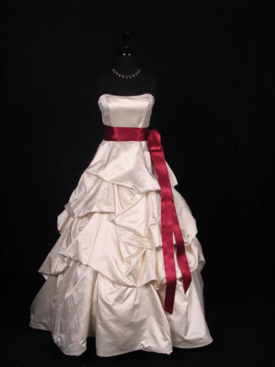 Wine Double Faced Satin Ribbon Sash
