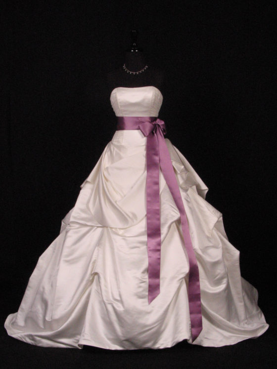 Amethyst Double Faced Satin Ribbon Sash