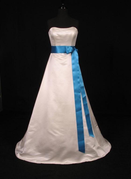 Turquoise Double Faced Satin Ribbon Sash