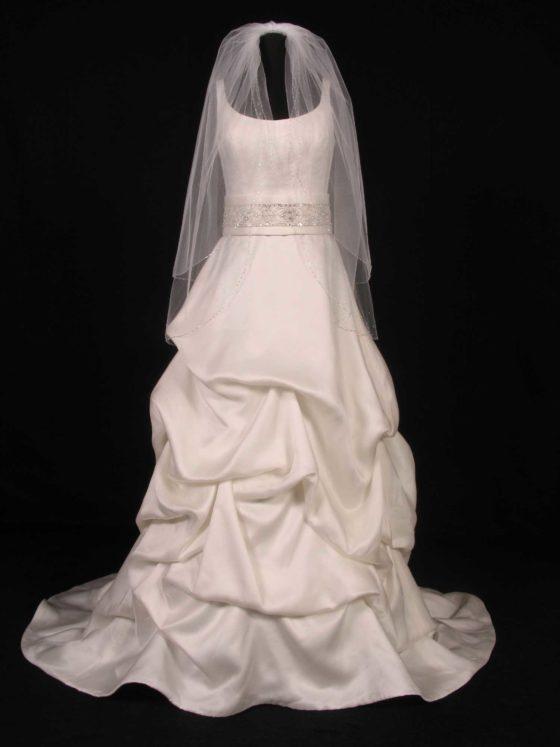 S5177VL White Bridal Veil