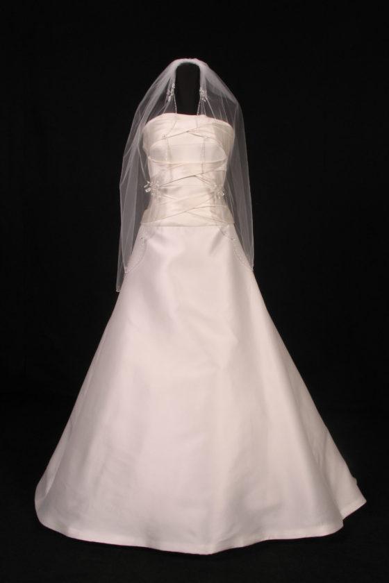 S3162VL White Bridal Veil
