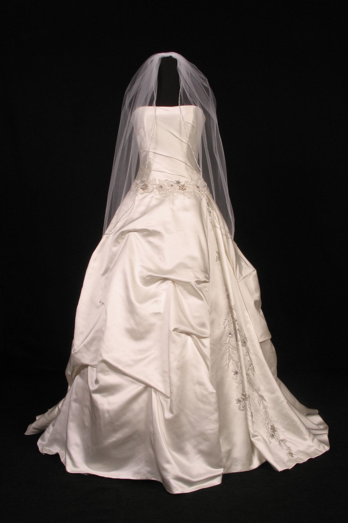 S2833VL White Bridal Veil