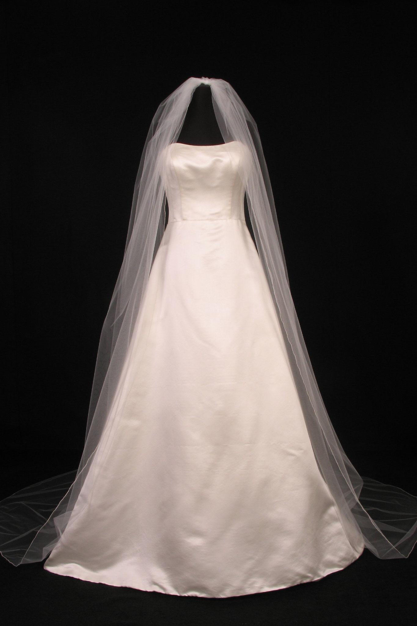 S0100VL Ivory Bridal Veil