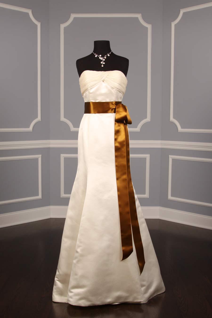 Antique Gold Double Faced Satin Ribbon Sash