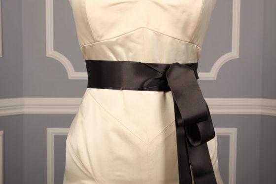 Charcoal Double Faced Satin Ribbon Sash