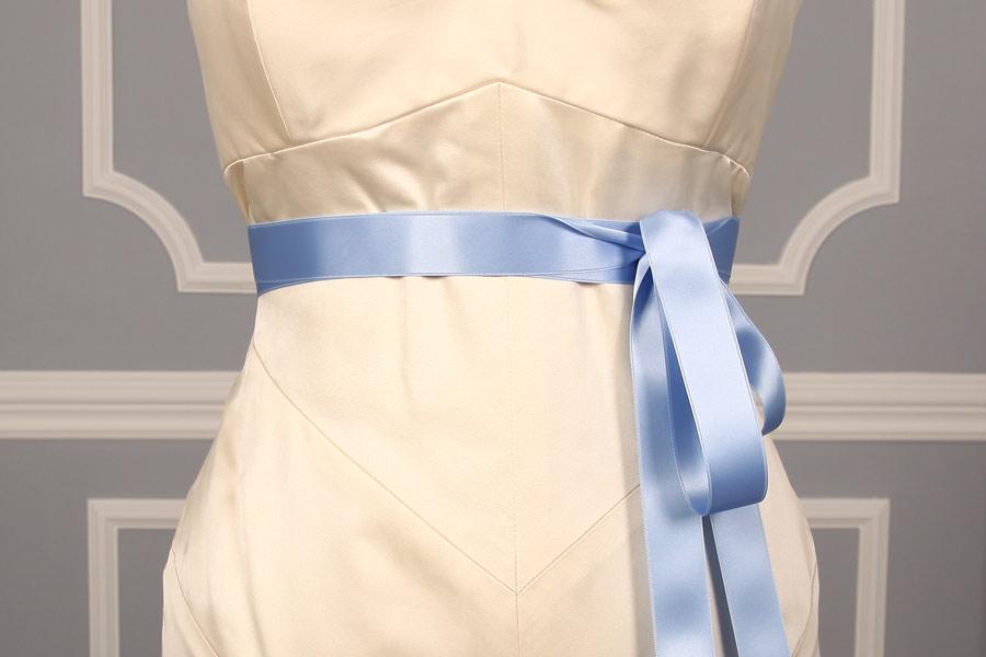 Blue Iris Double Faced Satin Ribbon Sash