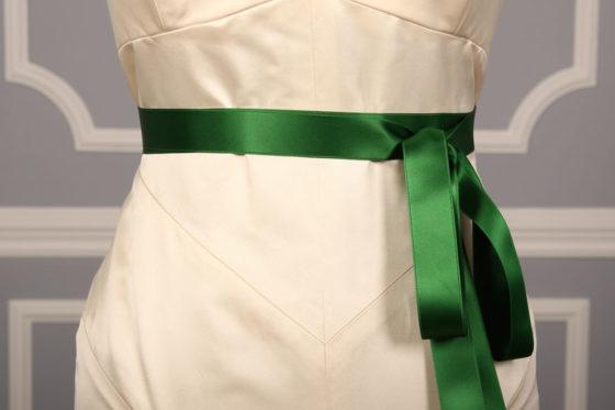 Holiday Green Double Faced Satin Ribbon Sash