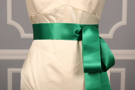 Emerald Double Faced Satin Ribbon Sash