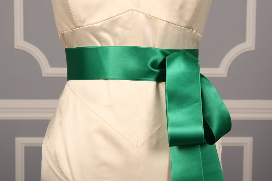 Emerald Double Faced Satin Ribbon Sash