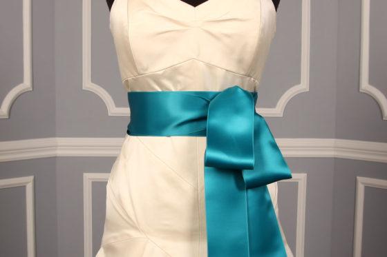 Deep Turquoise Double Faced Satin Ribbon Sash