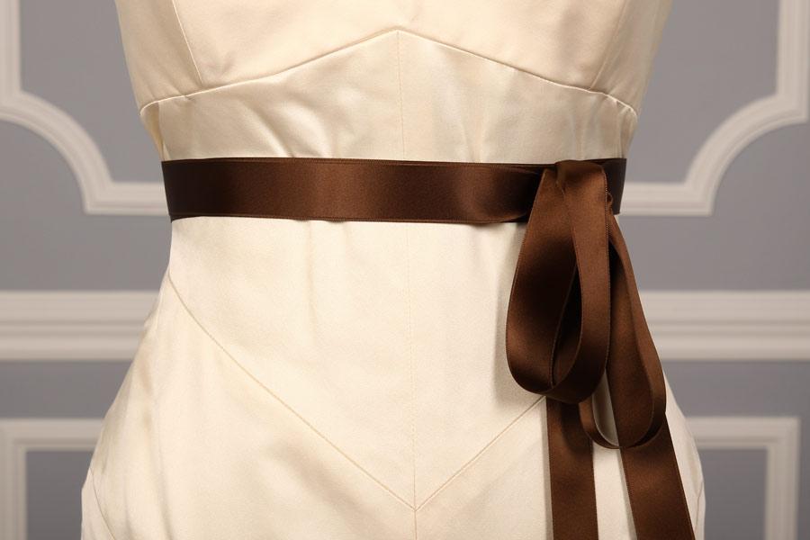 Brown Double Faced Satin Ribbon Sash
