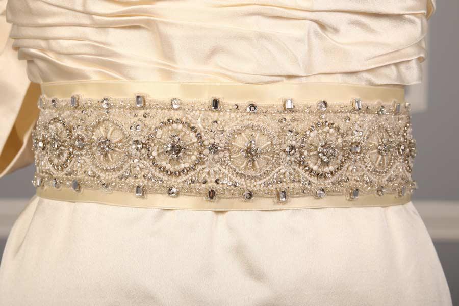Anne Barge 571 B Ivory Embellished Bridal Sash