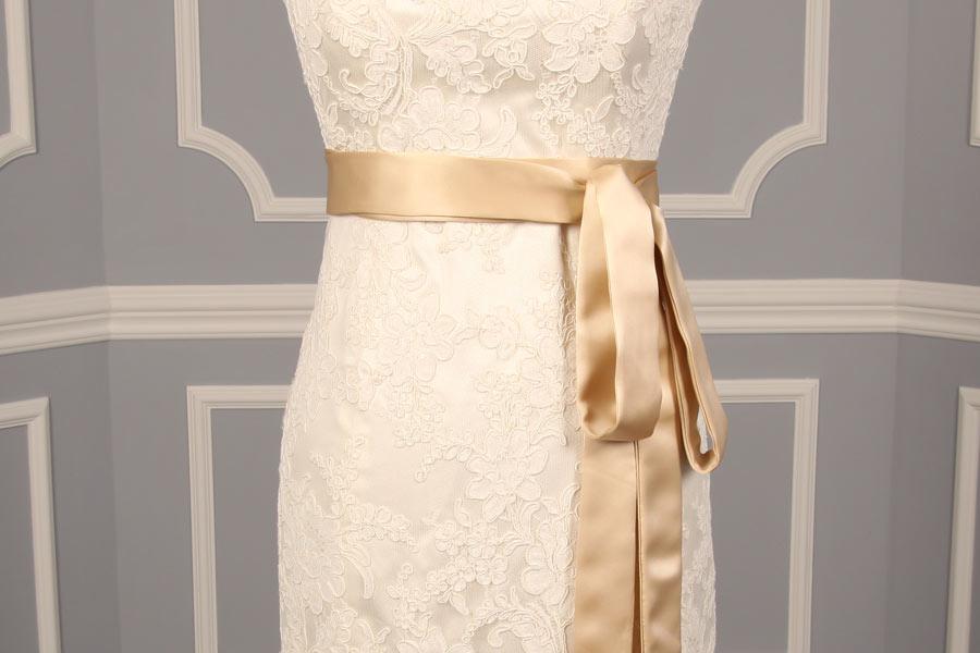 B524 Champagne Embellished Bridal Sash