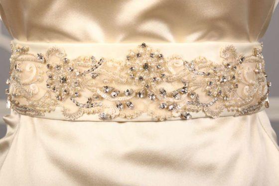 B537 Embellished Bridal Sash