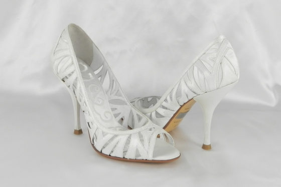 Badgley Mischka Shaina M1023 White Bridal Shoes