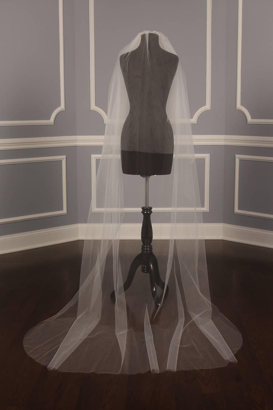 Your Dream Dress Exclusive S200VL Diamond White Chapel Length Bridal Veil