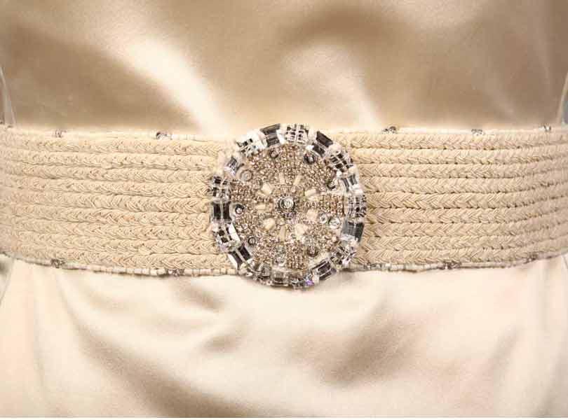 Monique Lhuillier Crystal Embellished Bridal Sash