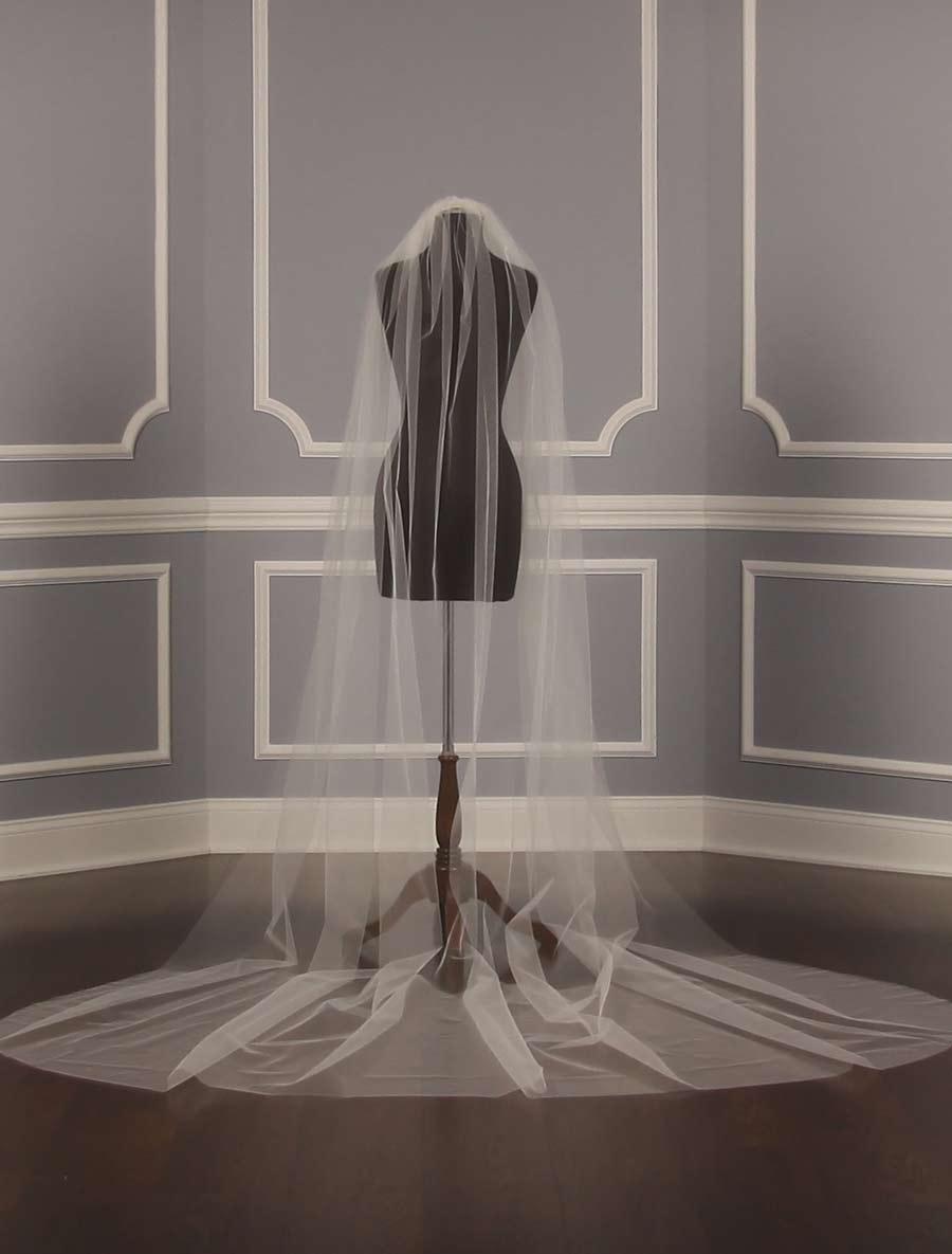 S0101VL Ivory Bridal Veil
