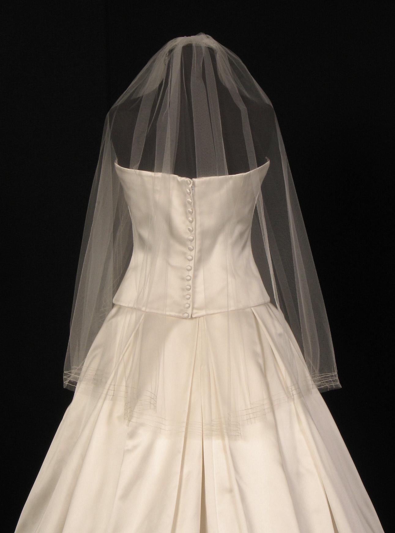 Toni Federici Miranda 60-40 Diamond White Waist Length Bridal Veil
