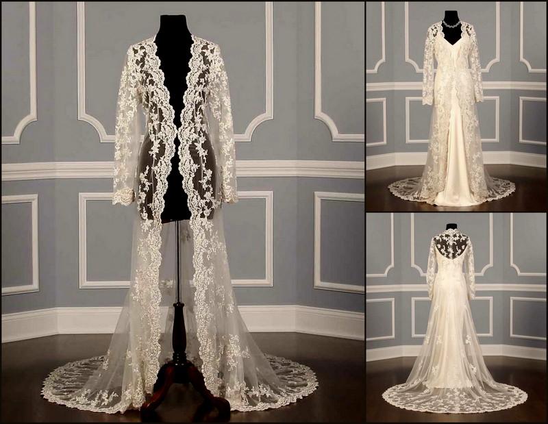 Badgley Mischka Bridal Beaded Lace Coat