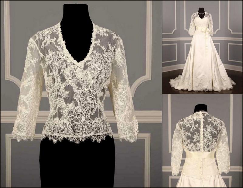 Anne Barge Anniston bridal jacket