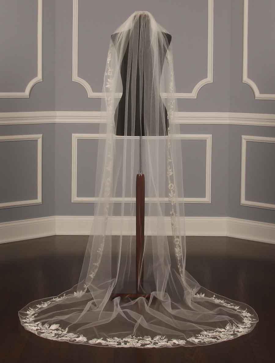 Homa Bridal 228 Diamond White Chapel Length Bridal Veil