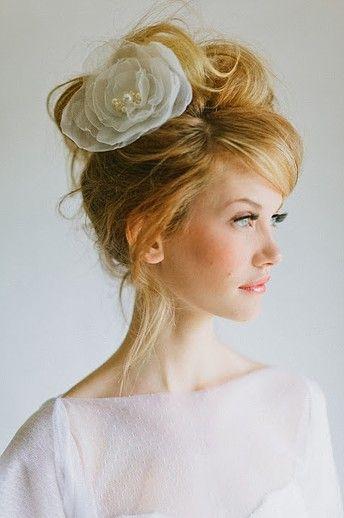 Chic bun for wedding