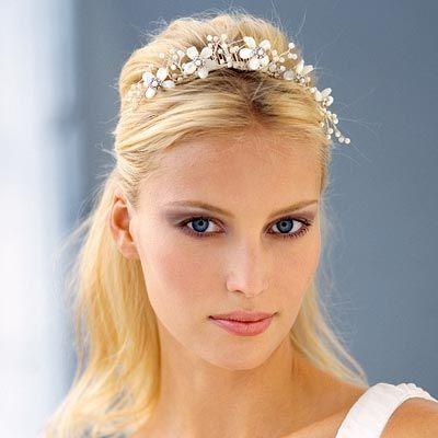 Medium wedding hairstyle