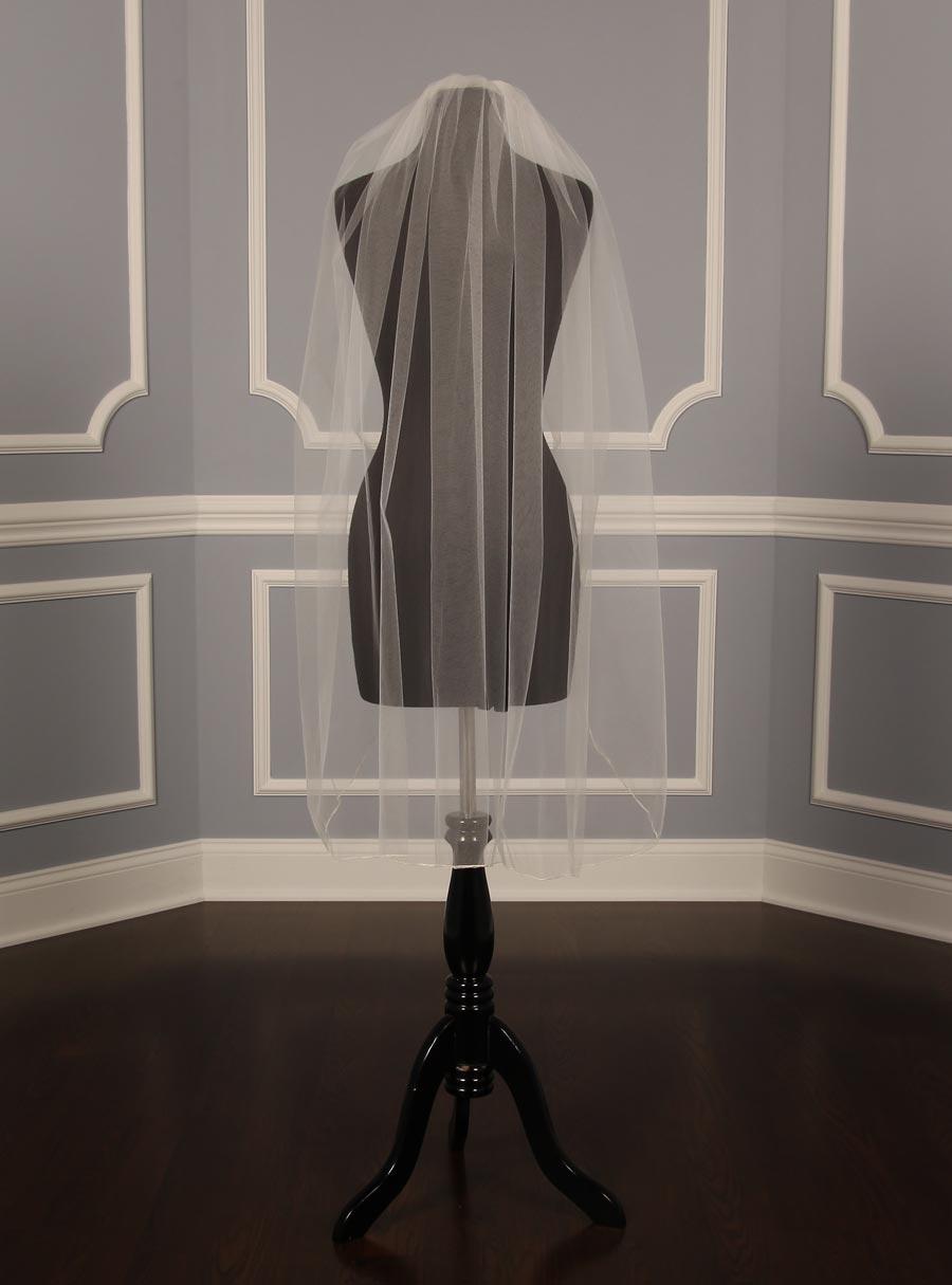 Your Dream Dress Exclusive S42VL Diamond White Fingertip Length Bridal Veil