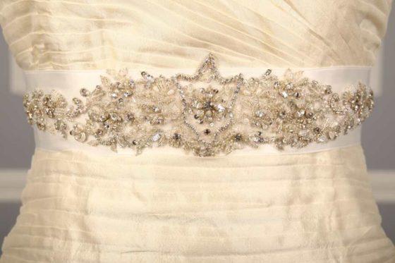 B555 Embellished Bridal Sash