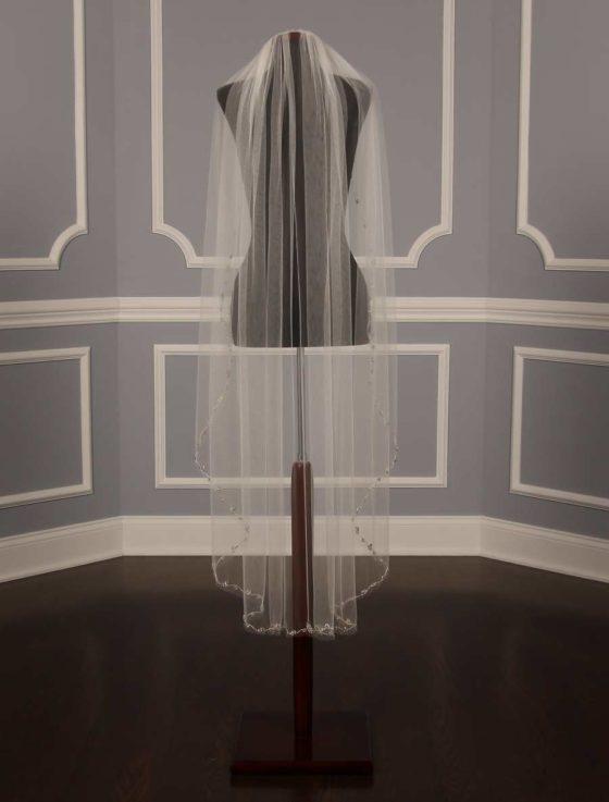 Homa Bridal 454 Diamond White Waltz Length Bridal Veil
