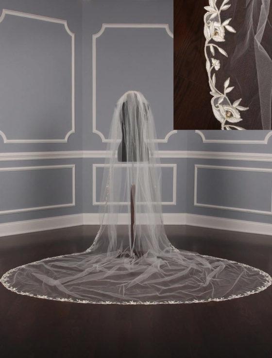 St. Pucchi M1234 Diamond White Wedding Veil