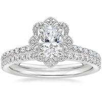 Brilliant Earth Crown Halo Diamond Engagement Wedding Ring
