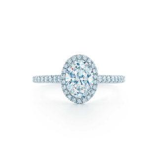 Tiffany Oval Shape Diamond Engagement Wedding Ring