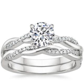 Brilliant Earth Twisted Band Diamond Engagement Wedding Ring