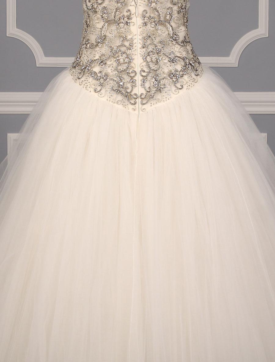 Kenneth pool giada k436 wedding dress back skirt detail for Wedding dress with back detail