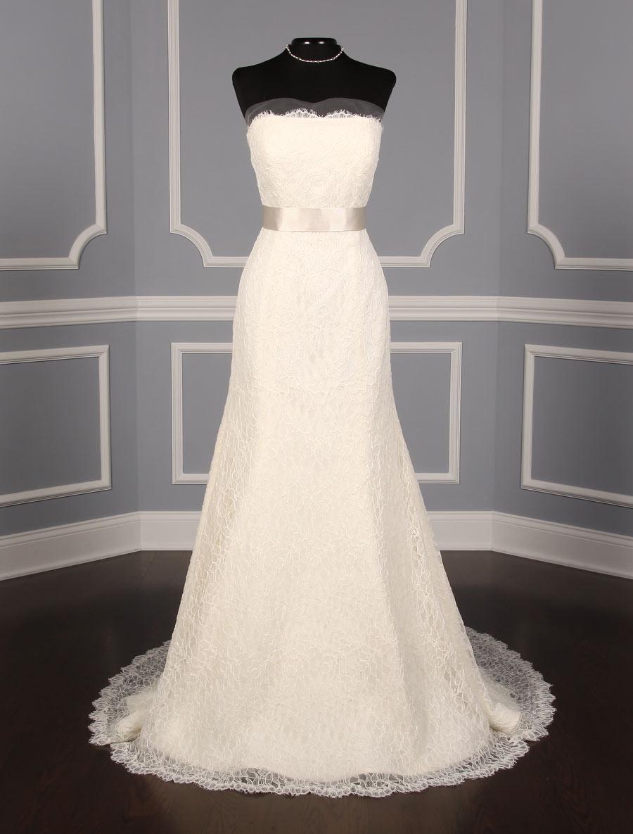 Sareh Nouri Magnolia Discount Designer Wedding Dress With Sash