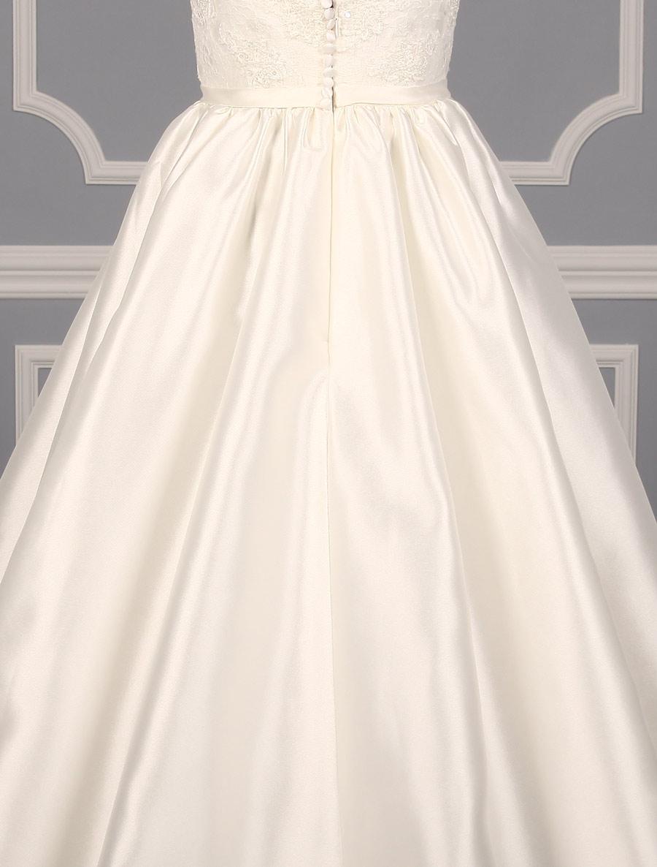 Pronovias primura wedding dress back skirt detail your for Wedding dress with back detail