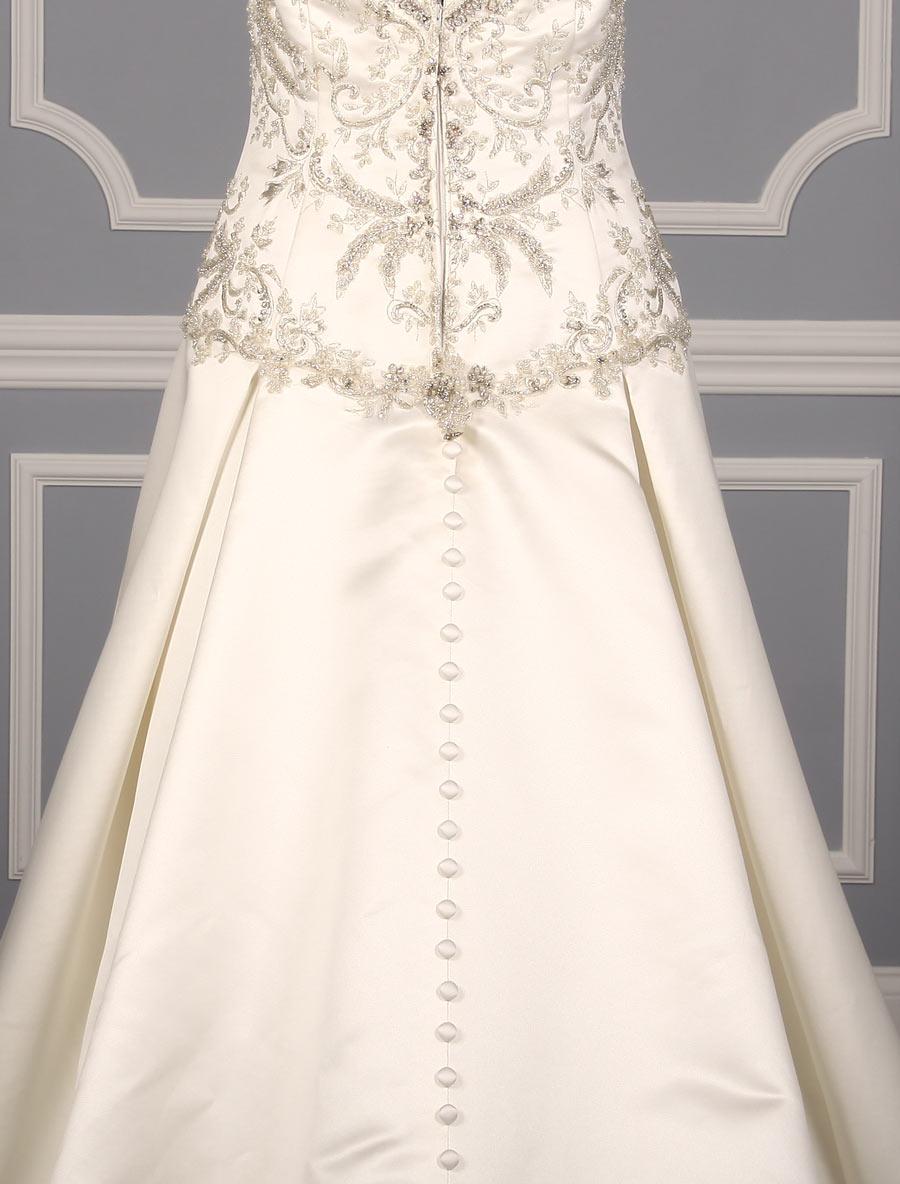 Casablanca 2152 wedding dress back skirt detail your for Wedding dress with back detail