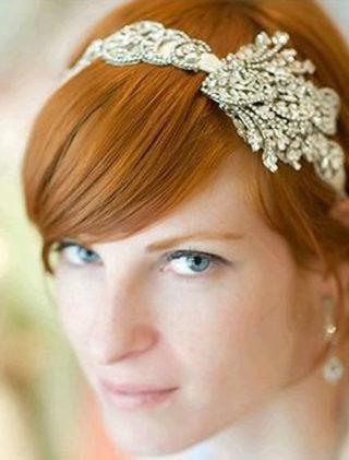 Maria Elena Embellished Bridal Ribbon Headband