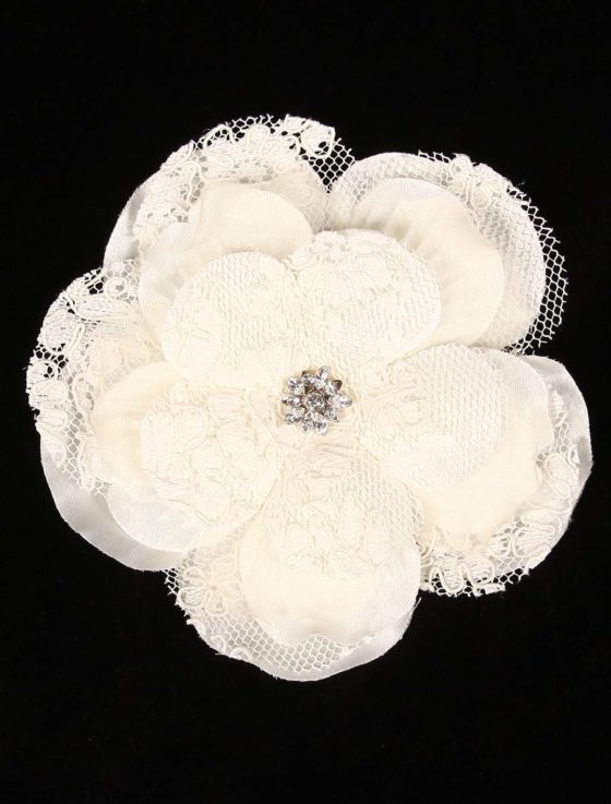 lori london, lory, lorie, laurie,lrsg-l, lrsgl, hair flower, hair flowers, ivory, light ivory, off white, taffeta, tafeta, taffetta, tafetta, lace, corded lace, cording, cord, crystal, crystals, Swarovski, Swarowski, hair comb, comb, flower, lori london hair flower, lori london headpiece