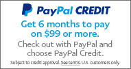 Paypal Credit - Get 6 months to pay on $99 or more