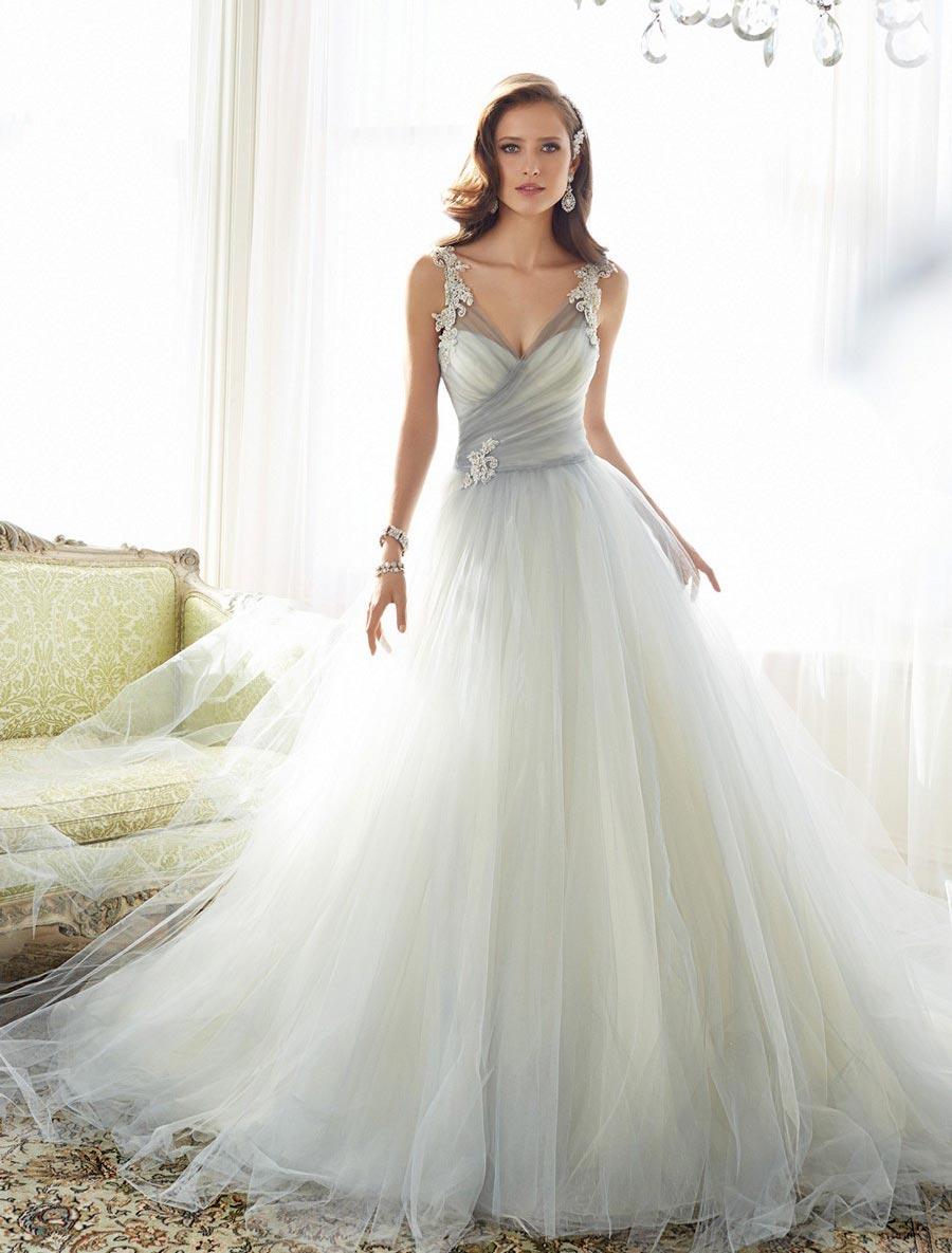d9ab1921918ef ... Sophia Tolli Y11550 Wedding Dress Size 14. Previous Next ...