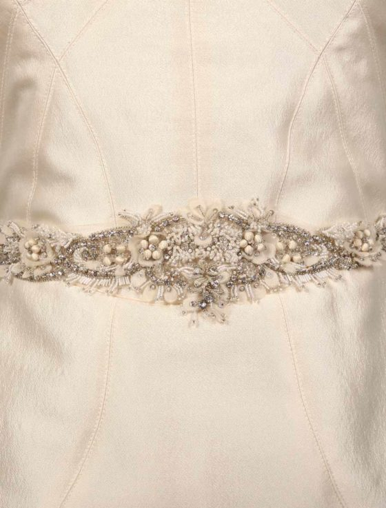 Monique Lhuillier Sterling Wedding Dress Sash