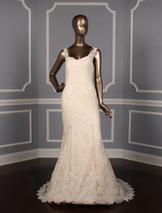Ines Di Santo Prague Discount Designer Cameo Pink Wedding Dress