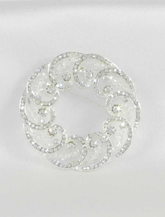 Your Dream Dress 8SBR Brooch Pin Bridal Jewelry Back