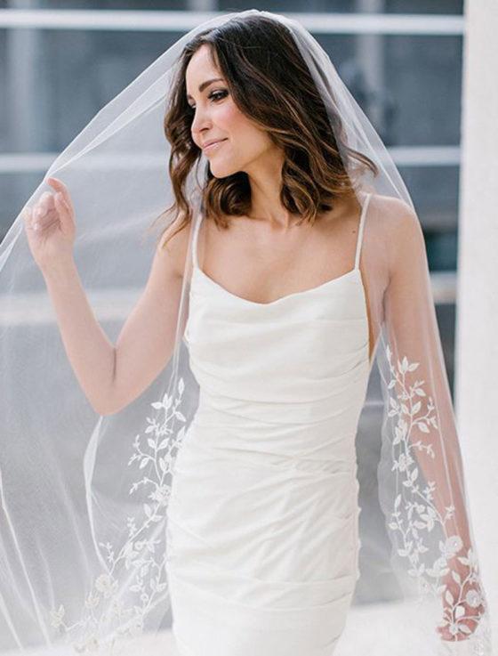 Toni Federici E1-6427 Secret Garden Bridal Veil on Person