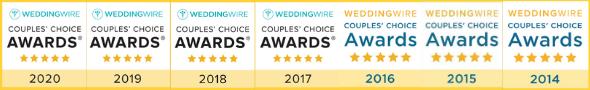 Your Dream Dress Wedding Wire Awards 2014-2020